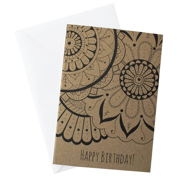 Mandala Trio Birthday Card