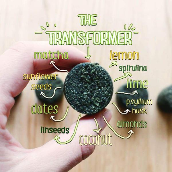 The Transformer Super Greens Smoothie Bomb