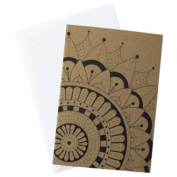 Mandala Spray Blank Card