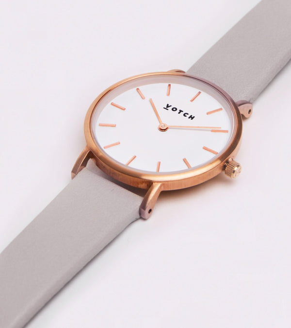 The Light Grey & Rose Gold Petite