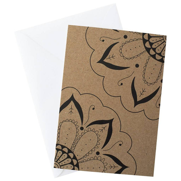 Mandala Twin Blank Card