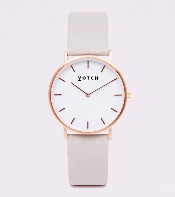 The Light Grey & Rose Gold Classic
