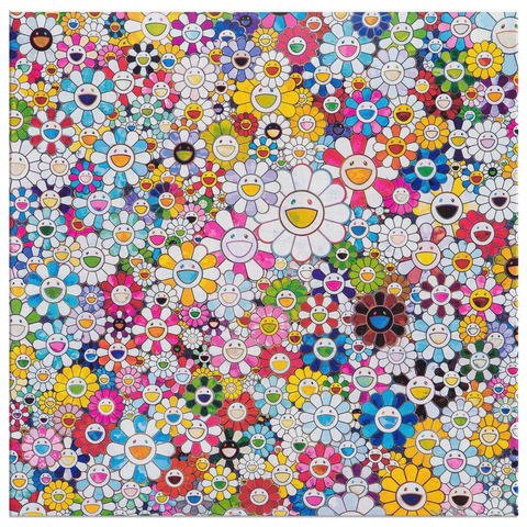 Takashi Murakami Art Flower Close My Eyes Canvas