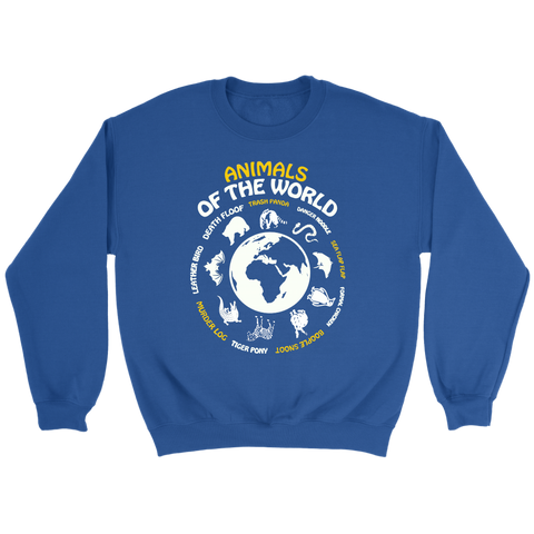 Animals Of The Worls Sweatshirt Maps