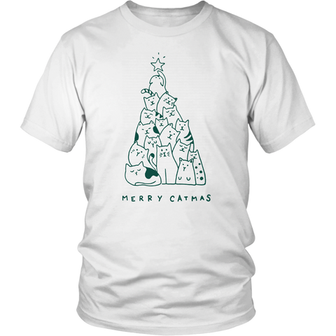 Merry Catmas Shirt Tree