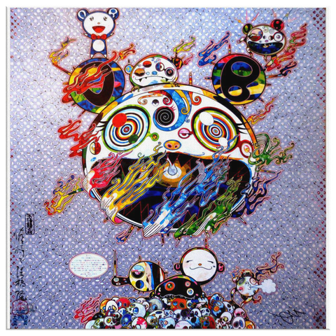 Takashi Murakami Art Chaos Painting Canvas