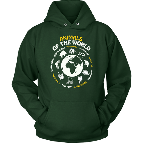Animals Of The World Sweatshirt Hoodie