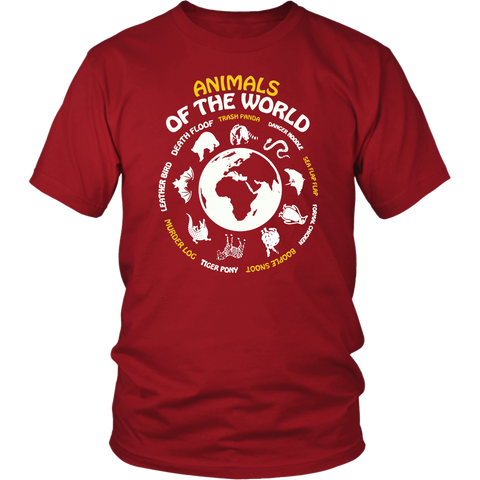 Animals Of The World Shirt Maps