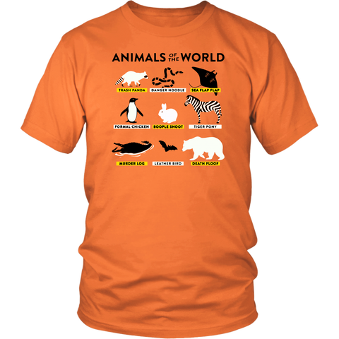 Animals Of The World Shirt Wow