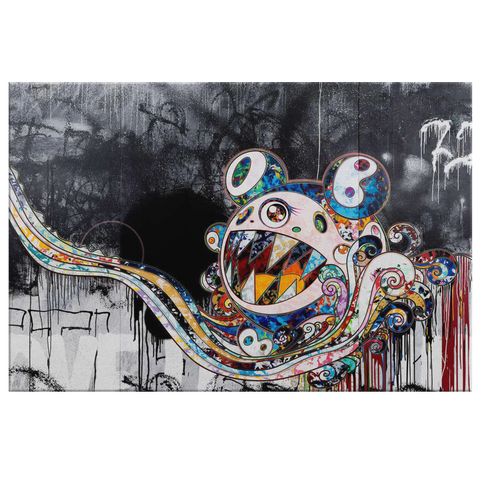 Takashi Murakami 727 Art Kaikai Ki Painting Canvas