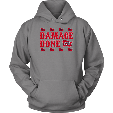 Damage Done Sweatshirt Hoodie Red Sox Champs Flag