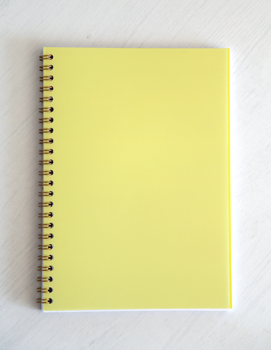 Denia Spiral Bound Notebook - Yellow