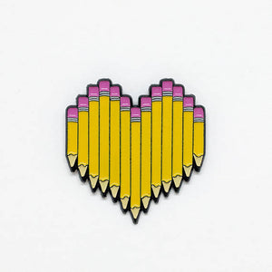 Pencil Heart Pin