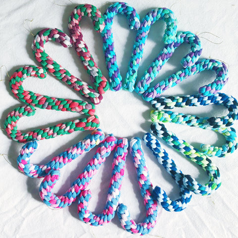 Colorful Tie-Dye Candy Canes