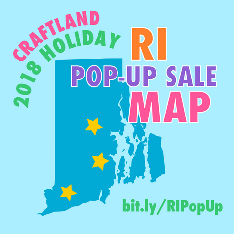 Craftland 2018 Holiday Rhode Island Pop-Up Sale Map