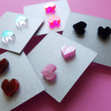 Acrylic Heart Stud Earrings