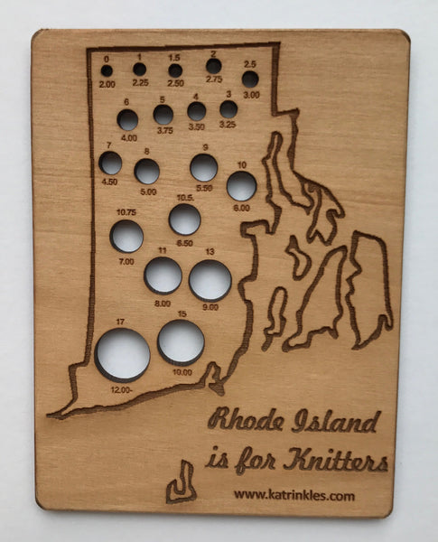 Rhode Island Knitting Needle Gauge