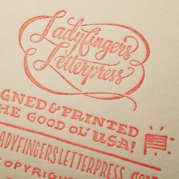 Ladyfingers Letterpress Greeting Card