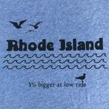 Rhode Island: 3 Percent Bigger At Low Tide - Adult Men's Tee