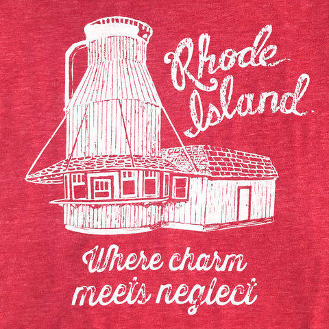 Rhode Island: Where Charm Meets Neglect - Adult Men's Tee
