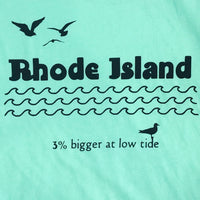 Rhode Island: 3 Percent Bigger At Low Tide - Junior Women's Tee