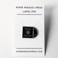 Paper Parasol Press Pin