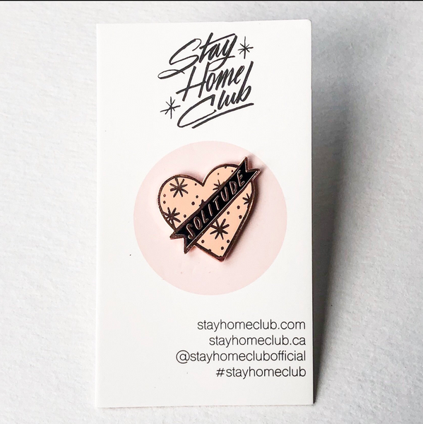 Stay Home Club Pins