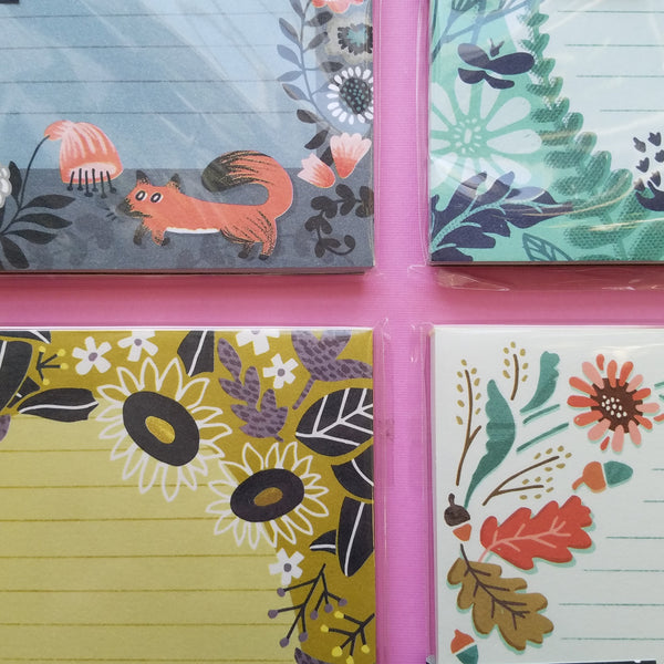 Nature Inspired Mini Memo Notepads