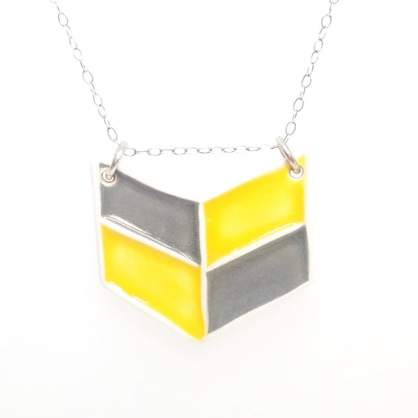 Ceramic Geometric Necklaces