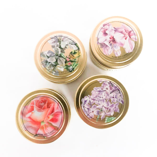 In Bloom Collection Candle Tins