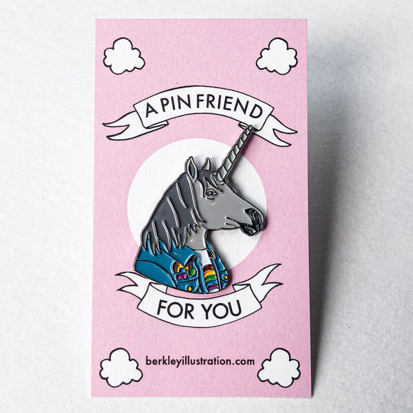 Unicorn Portrait Pin