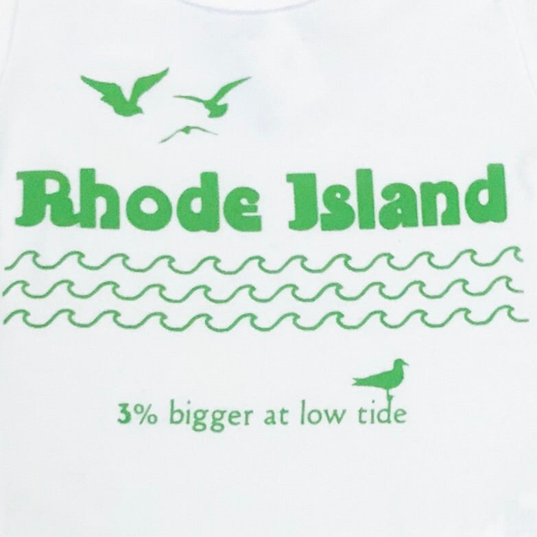 Rhode Island: 3 Percent Bigger At Low Tide - Baby Onesie