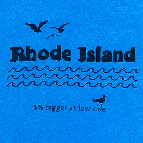Rhode Island: 3 Percent Bigger At Low Tide - Kid's T-shirt