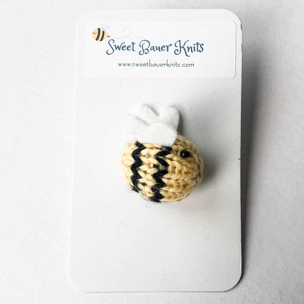 Knit Bumble Bee Brooch