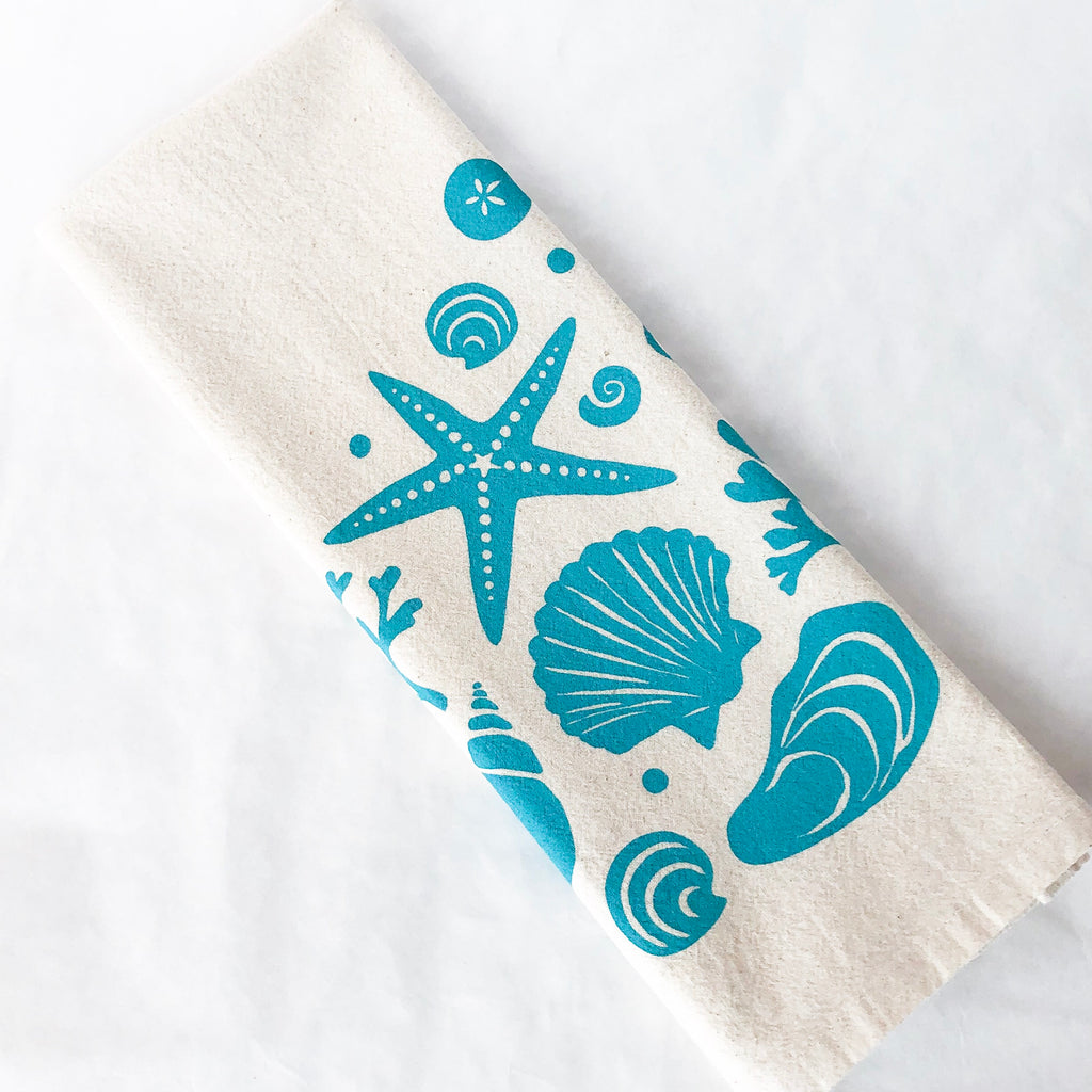 Seashells Tea Towel