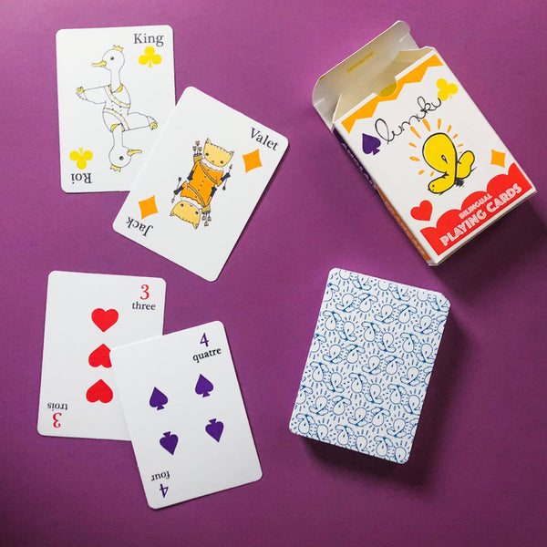 English-French Bilingual Playing Cards