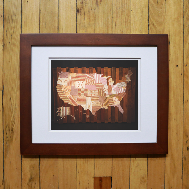 """America At The Seams"" Print of Artwork"