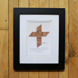 The Baseball Cross - Original Artwork Made from Actual Used Baseballs