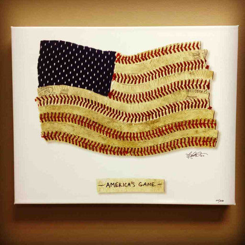 """America's Game"" Canvas Print"