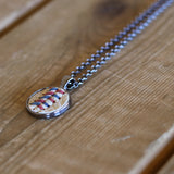 Limited Edition Patriotic Baseball Seam Pendant Necklace