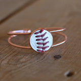 Baseball Seam Rose Gold Bangle