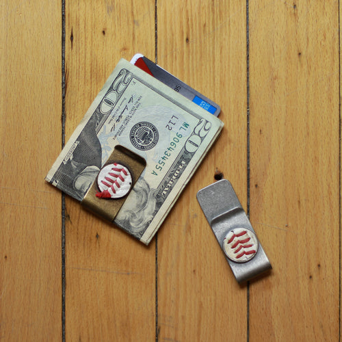 Baseball Seam Money Clip