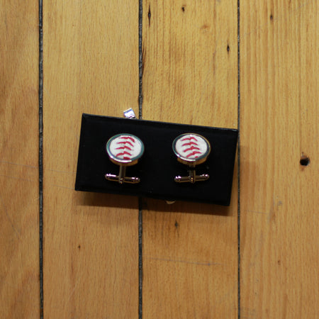 Jet Black Baseball Seam Pendant Necklace