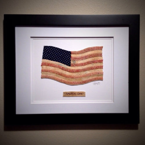 """America's Game"" Original Artwork - Framed"