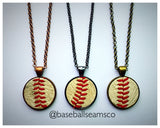 Baseball Seam Pendant Necklace