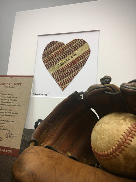 Customizable Baseball Heart Print (8x8)