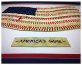 """America's Game"" Original Artwork - Navy Red Unframed"