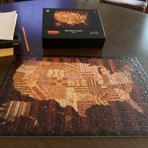 "Bundle of Two ""America at the Seams"" Jigsaw Puzzles"