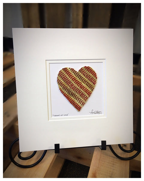"""Seams of Love"" Baseball Heart Original Artwork"
