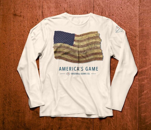 "NEW ""America's Game"" Adult Long-Sleeve Shirt"